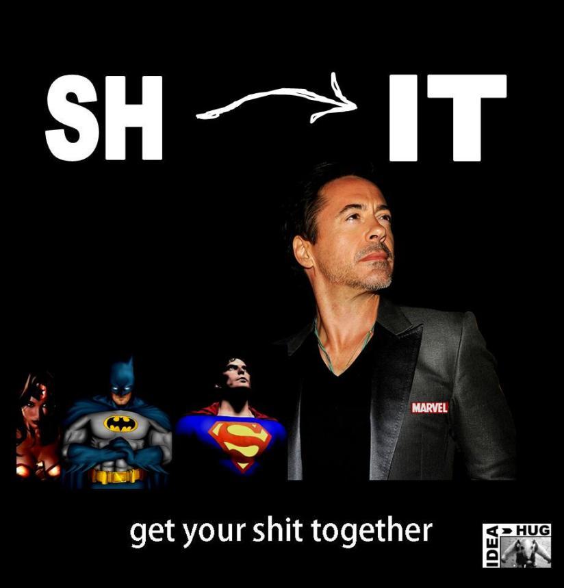 Get your shit together! Marvel vs DCmeme